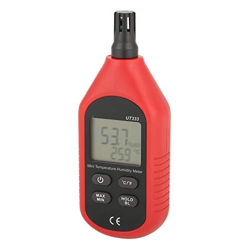 Humidity Meter, Air Temperature Humidity Meter Sensor Low Battery Power Indication Mini Digital Thermometer, for Animal Husbandry Monitoring Indoor Farming