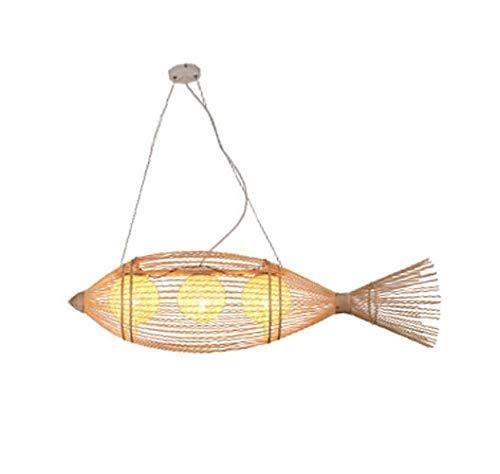 N \ A suspensión del Techo de la lámpara, lámparas de araña el Modelado de Pescado, Tejido de bambú del café del Restaurante E27 Brillo decoración terraza del salón