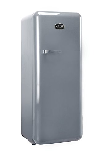 Vintage Industries ~ Retro-Kühlschrank Havanna in silber   50er Jahre Look   Größe 152,5 cm   Kühl-Gefrier-Kombination 302l   Getränke-Kühlschrank mit Gefrierfach/Gefrierschrank 21l (Silber)