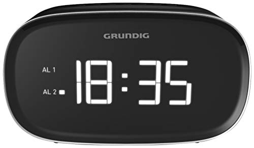 GRUNDIG Sonoclock 3000 Wecker Schwarz/USB-Ladefunktion/UKW-Tuner (FM/AM) / Weckfunktion/Sleep Funktion