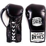 CLETO REYES Offizielle Boxhandschuhe mit angenähtem Daumen, Schwarz , 226,8 g (8 oz)