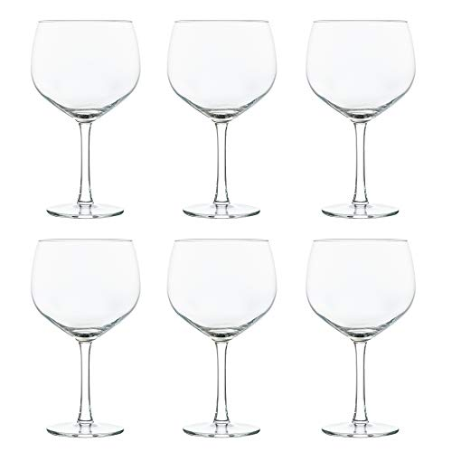 Libbey Bicchiere da cocktail Gin & Tonic - 650 ml / 65 cl - Set di 6 - Lavabile in lavastoviglie - Perfetto per un cocktail party a casa