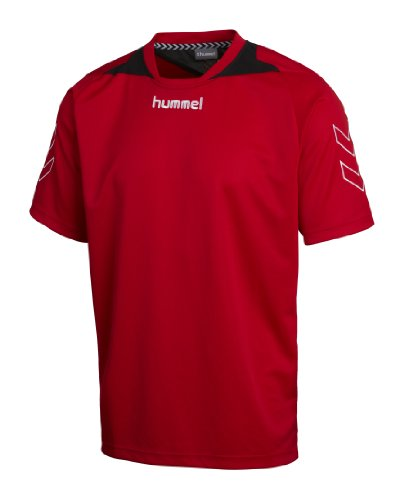 hummel Trikot Roots Short Sleeve Poly Jersey, True red, S, 03-956-3062