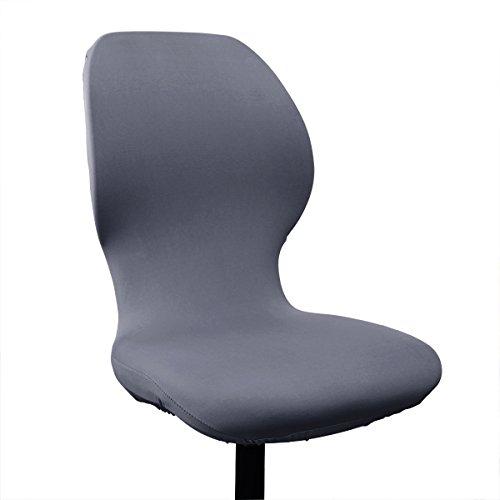 VORCOOL Stuhlbezug Stuhlhussen elastische Stuhl Abdeckung Stretch waschbar Drehstuhl Bezug (Grau)