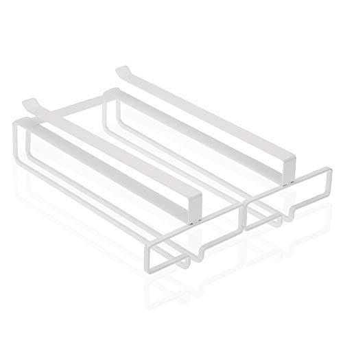 Versa Soporte para Copas bajo Armario sin Tornillos Color Blanco de Metal