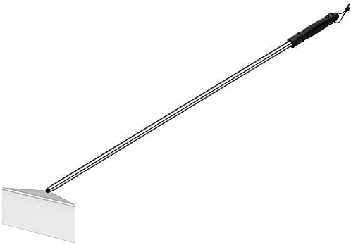 POLIGO Charcoal Grill Ash Rake Hoe for Fireplace Wood Stove Pizza Oven Stainless Steel BBQ Cleaner product image