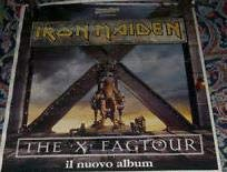 Iron Maiden tour x factor POSTER