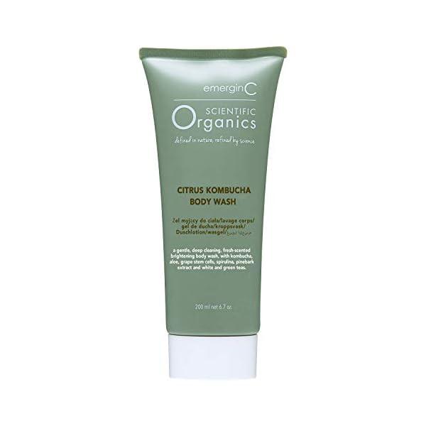 emerginC Scientific Organics Citrus-Kombucha Body Wash - Gentle Body Cleanser with Aloe, Spirulina + Tea (6.7 oz, 200 ml… 1