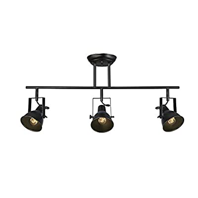 LALUZ Black Track Lighting Fixture 28 inches Modern Ceiling Spotlight, 3 Heads, A03159