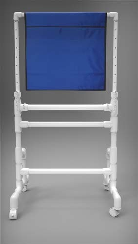 "X-Ray Mobile Shield - Heavy Duty Solid Panel, PVC Base, 24""W x 24""H"