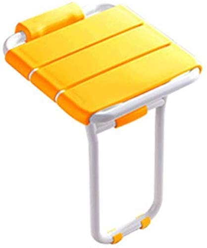 Home Folding Shower Seat Wall Mounted with Legs Abs Aluminum Shower Seat Folding Chair Bathing 0415