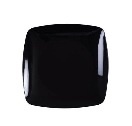 Renaissance Paquete de 10 Platos de plástico rígido Elegantes y Resistentes, 19 cm, Color Negro