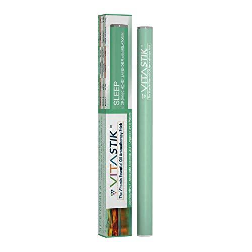 VITASTIK Organic Inhalable Sleep Aide Lavender Vanilla SLEEP Formula with Melatonin | Vitamin Enhanced Essential Oil Diffuser Stik (1)