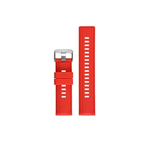Weimingshop Reloj de Bolsillo Reloj Band Strap Fashion Multicolor Soft Silicone Strap Universal Watch Band Sport Impermeable Reemplazo Pulsera Reloj Accesorios Reloj de Bolsillo de Cuarzo