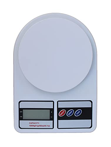 Glun Multipurpose Portable Electronic Digital Weighing Scale Weight Machine (10 Kg - with Back Light)