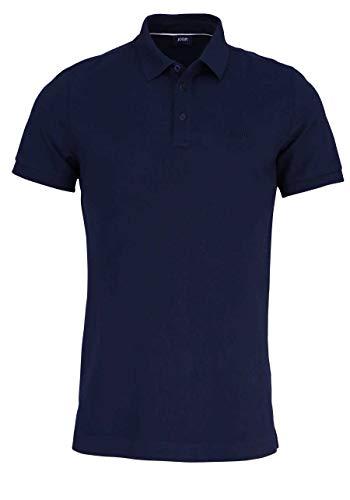 Joop! Poloshirt Primus Halbarm geknöpfter Kragen Pique Nachtblau Größe M