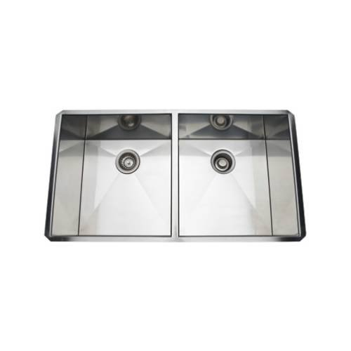Great Deal! Rohl RSS3518SB ROHL ITALIAN STAINLESS STEEL DOUBLE BOWL KITCHEN SINK 35 1/4^ X 18^ X 10^ INTERNAL DIMENSIONS WITH TWO 17^ BOWLS 16 GAUGE STAINLESS STEEL AND TANGENT SSS DBL BWL 34X18X10 B.SS
