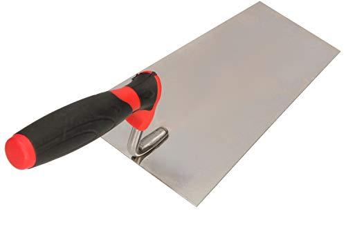 KOTARBAU® Edelstahl Trapezkelle 180 mm x 80 mm Maurerkelle mit Gummigriff Stukkateurkelle Putzkelle Stukkateurspachtel unabdingbar für Mauererarbeiten