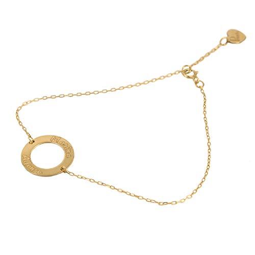 Pulsera circulo personalizable'Círculo Amoroso' | Priority | Pulsera personalizable | Pulsera de oro | Pulsera de 18K | Pulsera para regalar | Pulsera mujer | Pulsera círculo |