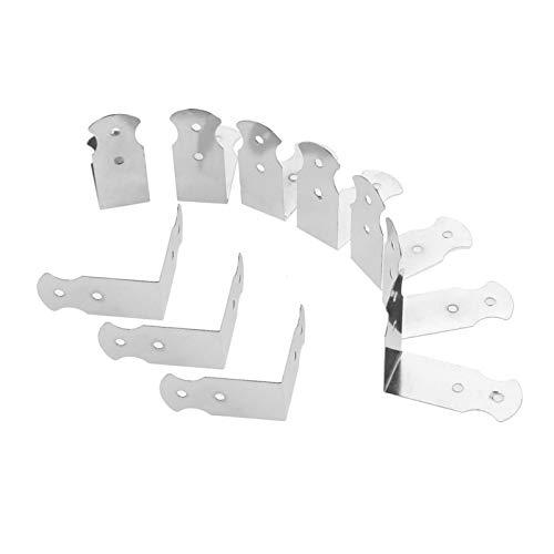 10pcs Silver Corner Protector Box Scrapbook Album Cubierta protectora decorativa para joyería Hardware de muebles 42 * 18mm YUAN CHUANG
