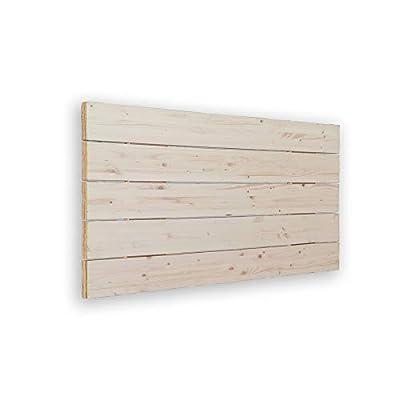 🛌 AVENCO - Cabecero de cama tipo palet. Su material es madera de pino cepillada. Aporta un toque rústico y moderno. 🛌 MEDIDAS: 115x5x50 cm 🛌 TRANSPIRABLE - La parte trasera contiene un tejido TNT de color negro, para hacerlo transpirable. Además, el ...