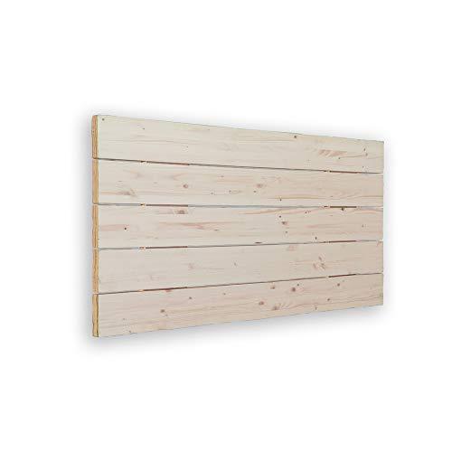 Silcar Home | Cabecero de Madera | Modelo Avenco | Color Blanco | 115 cm | Cabecero Palet | Cabezal Madera | Cabecero Original y Juvenil | Transporte Incluido