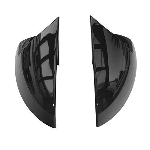 ZIS Newcar Horn Retroview Espejo Shell Wing Retroview Espejo De La Cubierta Ajuste para Polo- Plus 2019 2020 (Color : Bright Black)
