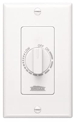 NuTone Variable Speed Wall Control for Ventilation Fans, Dial Knob Control, 3 Amp., 120V, White