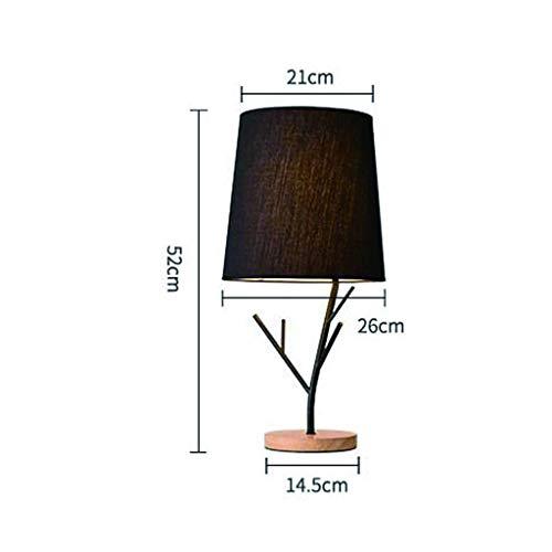 Led Desk Licht, Nordic Creative Minimalistische Boom Lamp Remote Control Protection Eye Slaapkamer Nachtlampjes Desk decoratie zwart en een kleine tafel Lamp