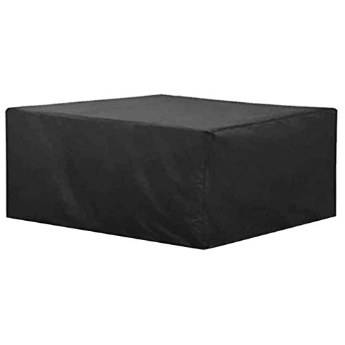Garden Furniture Covers Waterproof 200x100x200cm, Patio Furniture Cover Oxford Cloth PU Coating Durable Dust-proof Wicker Chair Sofa Bench Outdoor Garden Furniture Cover, Black, Customizable,Black
