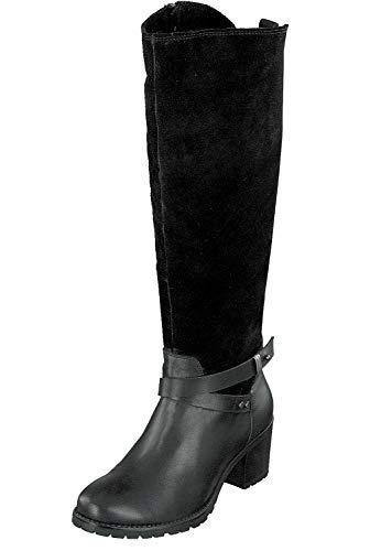 Relife Damen Schuhe Stiefel Winter TEX Leder 9117-19801B Black Reißverschluss (40 EU)