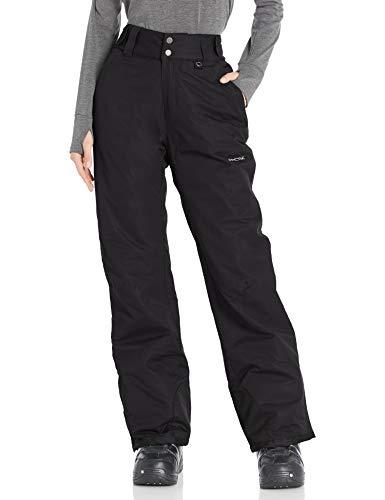 Arctix Women's Insulated Snow Pants, Black, Large/Petite