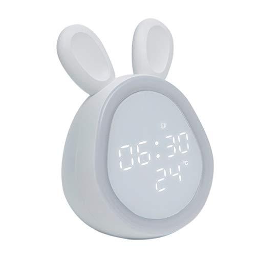 AnYi wekker voor kindernachtlampje, wake-up licht, horloge, eye caring, LED-licht instelbare helderheid, bewegingssensor, lichtwekker voor kinderen, jongens, meisjes, slaapkamer