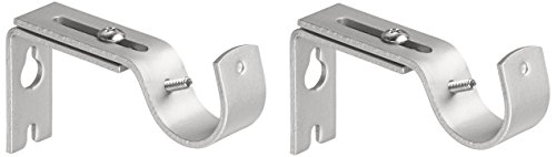 Amazon Basics - Set de 2 soportes ajustables de pared - Níquel