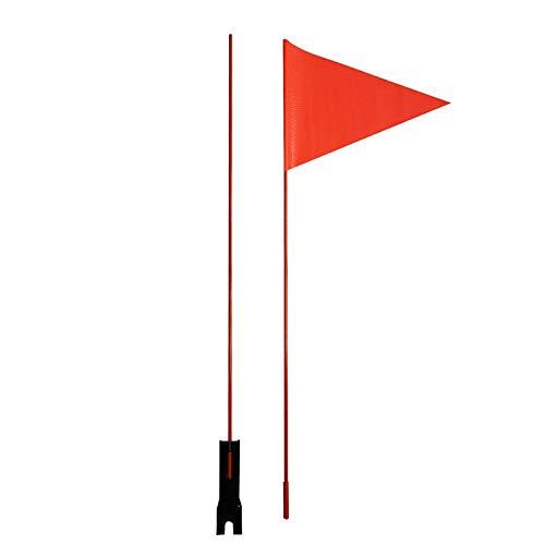 A/A Bandierina di sicurezza per bicicletta, con asta di sicurezza, colore rosso, bandierina per bicicletta, bandierina per bicicletta, bandierina per bambini, 60 cm2