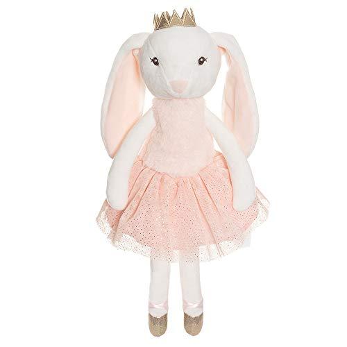 """Teddykompaniet Båstad 2871 Stoffpuppe Hase """"Ballerina Kate"""", rosa/weiß, 40 cm – Plüschpuppe Kaninchen – Kuscheltier für Mädchen - Geschenk für Kinder"""