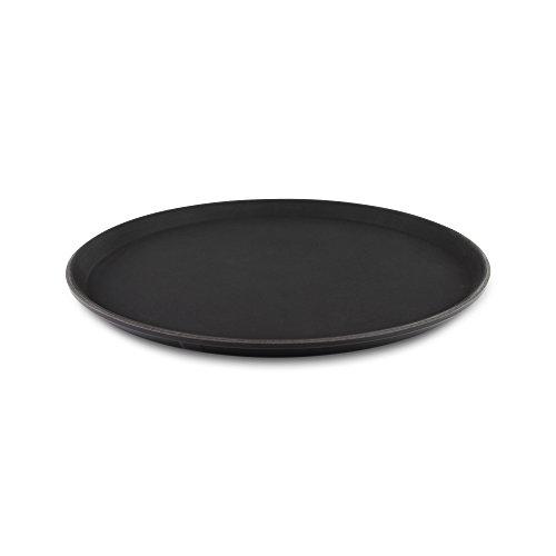 "Tuffgrip Super plástico Antideslizante Antideslizante de Goma, Antideslizante Alimentos Bandeja, Redondo, 16""/40cm de diámetro, Color Negro"