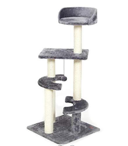 gengxinxin Kratzbaum Für Katzen Kletterbaum Für Katzen Cat S Tree Tower Haustiere Spielen Baum Kratzen Baum Arbre EIN Chat Klettern Springen Spielzeug Rahmen Haustiere Rascador Gato-Grey_XL_1