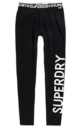 Superdry Damen Jaylah Leggings Sporthose, Schwarz (Black 02a), 42 (Herstellergröße: 14)