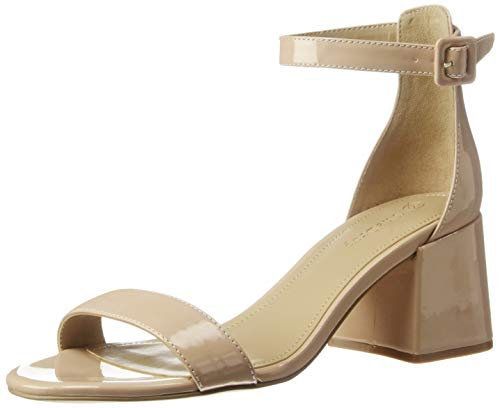 Marque Amazon - Lyon Block Heeled Strappy Sandal, Heeled Sandal femme par The Drop
