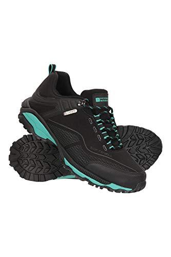 Mountain Warehouse Collie Wasserfeste Schuhe für Damen - Leichte Damenschuhe, atmungsaktive, weiche Wanderschuhe - Ideal zum Wandern in Allen Jahreszeiten Schwarz 40 EU