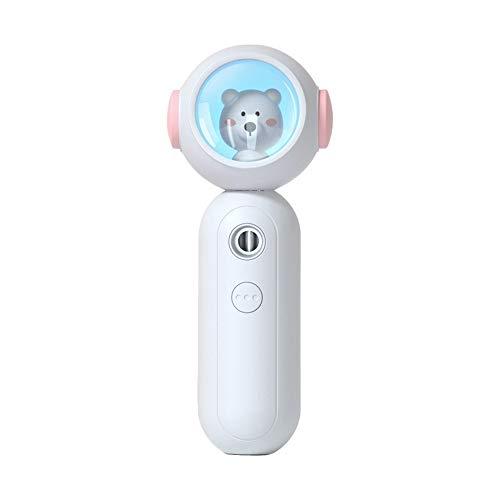 Nano Handig nevel Spray Nano Mister voor wimperExtensions, Ionisch Facial Stoomboot Spuit, Draagbaar Reizen Huis Gebruik Gezicht Hydratatie Verfrissend Diep Water geven Machine,White