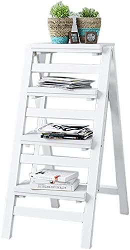 Taburetes de escalones Plaza de placas para el hogar Multifunción Multifunción, escalera de cuatro pasos, estante de zapatos, bastidor de flores portátiles, biblioteca plegable / de cocina / pasos de