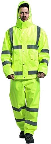 Veiligheid Vesten Vest Waterdicht Regenjas En Veiligheid Regenjas Suit For Work Outdoor Vest for Utility Workers Fietsen XMJ (Size : 2XL)