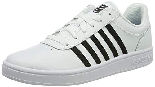 K-Swiss Herren Court CHESWICK Sneaker, Weiß (Black/White 126), 45 EU