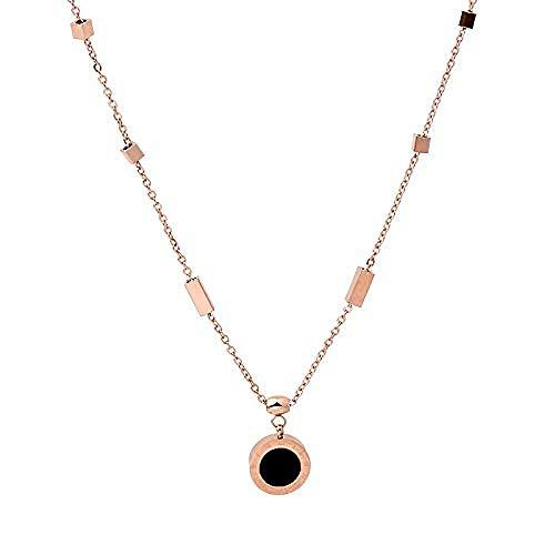 Ahuyongqing Co.,ltd Collar Collar de números Romanos para Mujer Hermoso Simple