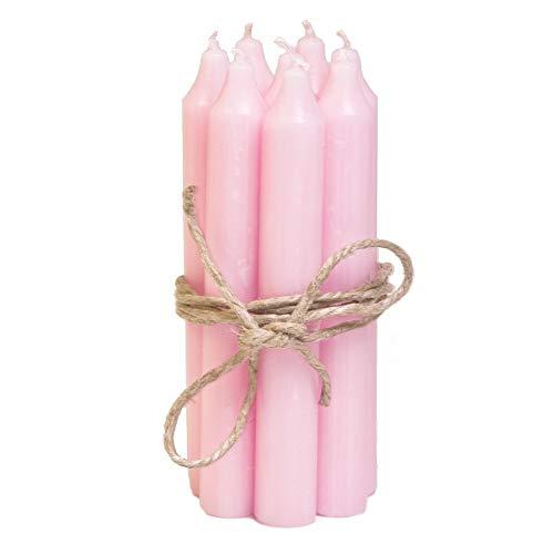 Stielreich Stabkerzen Set klein rosa (8 Stück), für Feier / Haushalt / Dekoration