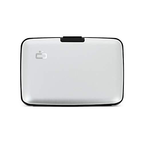 Ögon Smart Wallets - Aluminium Geldbörse Stockholm - RFID Blockierung Kartenetui - Bis zu 10 Karten und Banknoten (Silber)