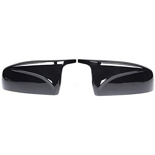 ZHANGJN Cubierta de Espejo, Espejo de Espejo retrovisor Negro Brillante, Protector de Gorras de Espejo de ala Lateral para BMW X5 E70 X6 E71 2008 2007 2011 2012 2012 2012 2013
