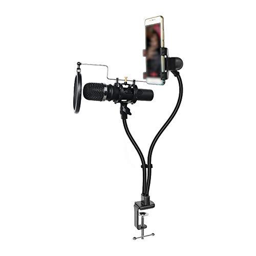 Verstellbarer Mikrofonständer Handy-Halter Ständer für Live Streamy Lazy Halterung lange Arme Handy Clip Halter
